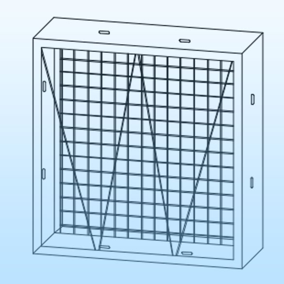 metal holding frames for air filters