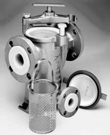MODEL 72L (Tefzel Lined) Simplex Strainers